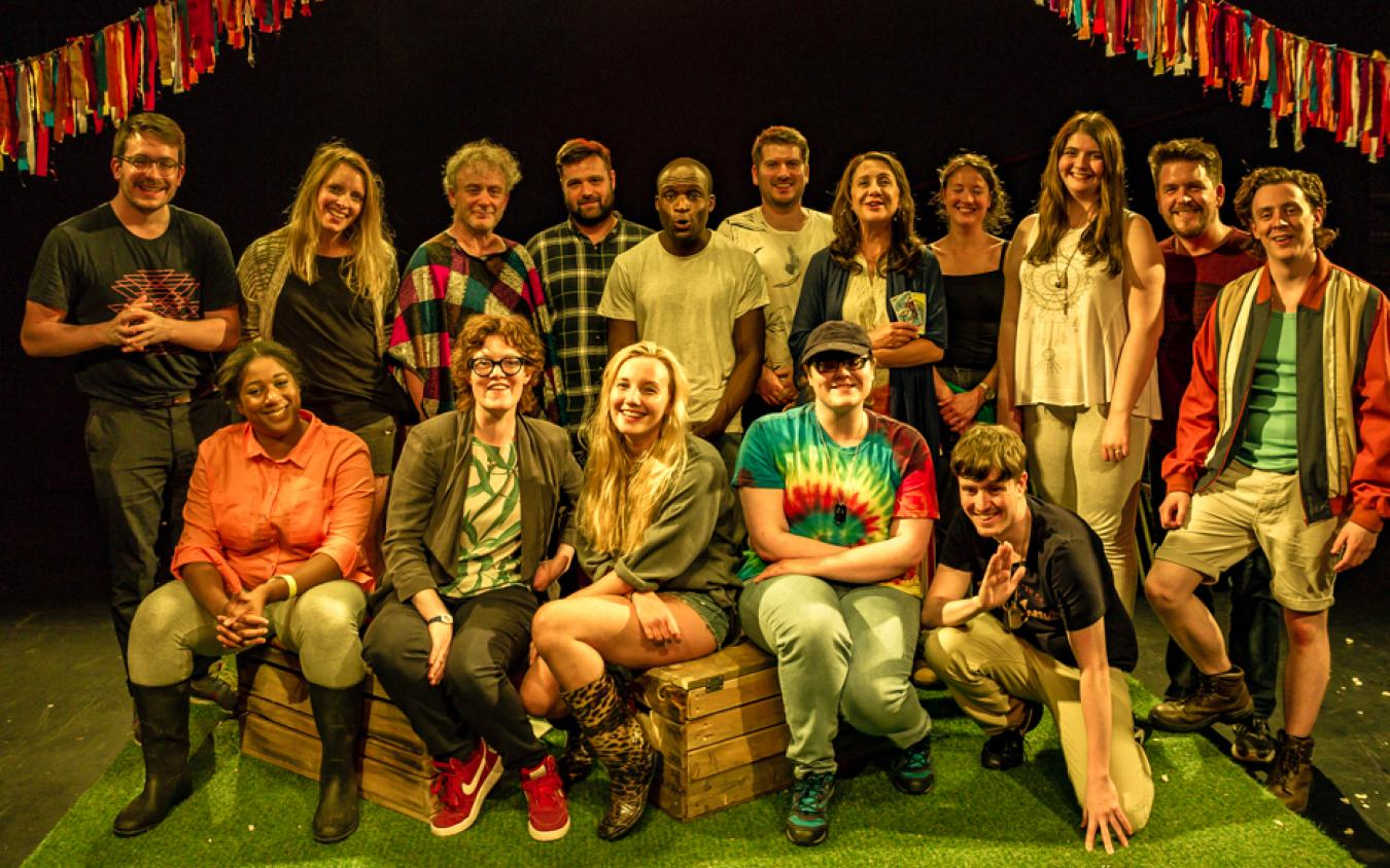 Group shot of the Pentabus young company